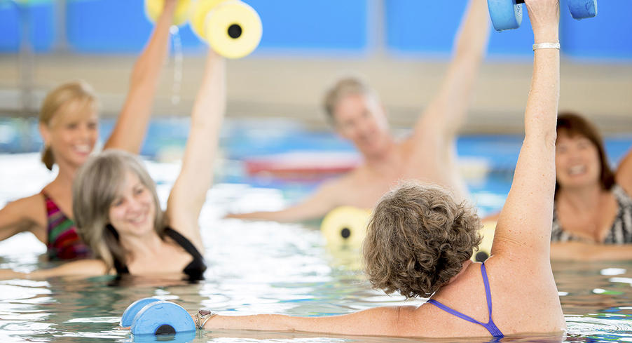 swimming poole exercise class
