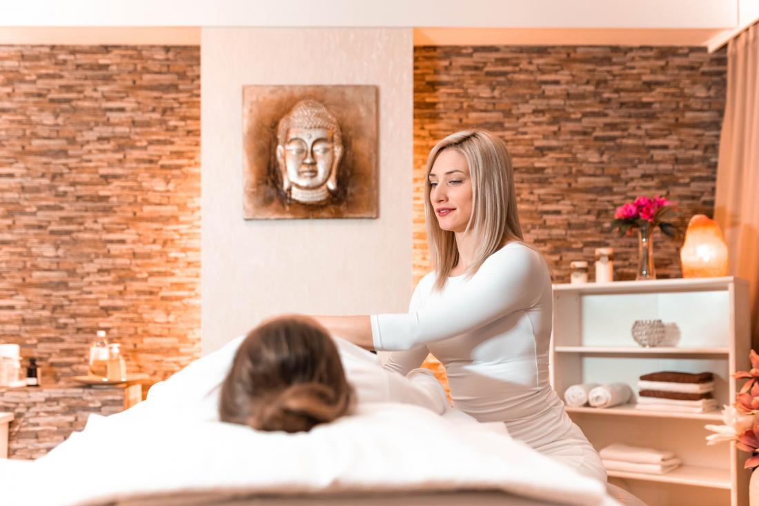image of person receiving spa treatment