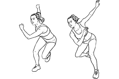 speed skaters, glutes workout